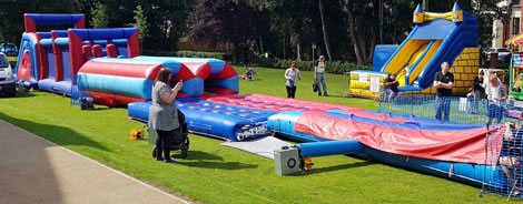 Inflatable Assault Course for hire - 120ft long version