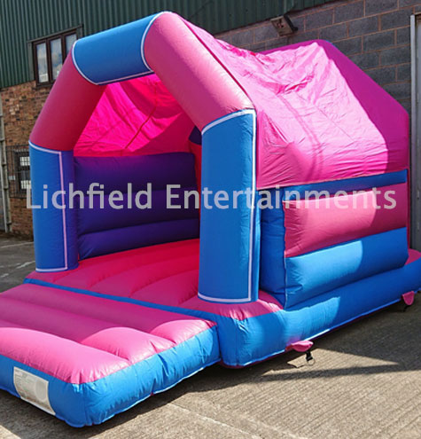 15x11ft Pink and Blue Bouncy Castle hire from Lichfield Entertainments