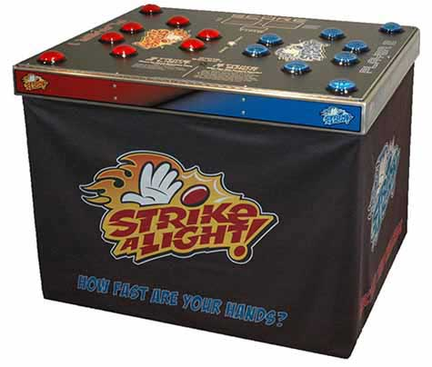 Strike a Light reaction speed game for hire across the UK