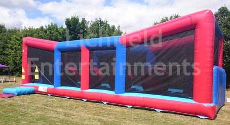 Big Red Balls inflatable for your own last man standing challenge