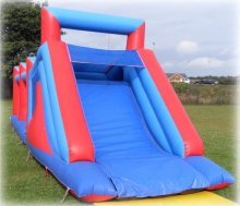 Adults bouncy assault course