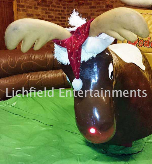 Christmas Rodeo Reindeer Ride for hire from Lichfield Entertainments UK