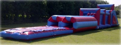 Company sports day games hire - assault course.