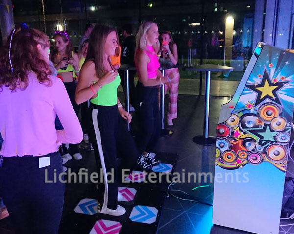 Two player Dance Machine hire UK nationwide