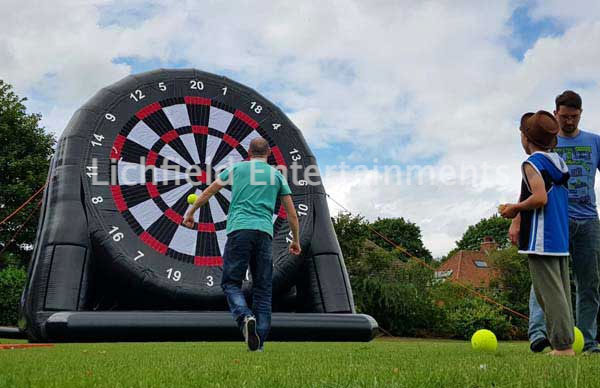 Giant Inflatable Velcro Football Board game for hire from Lichfield Entertainments UK