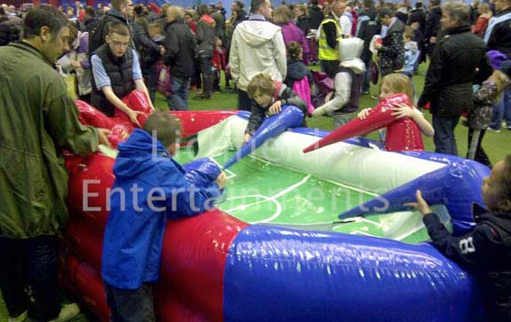 Football theme entertainments and amusements for hire