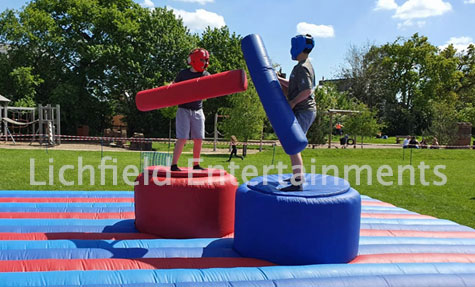 Gladiator Jousting Inflatable for hire from Lichfield Entertainments UK