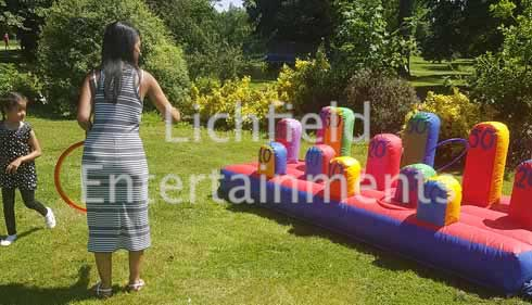 Inflatable Hoopla game for hire