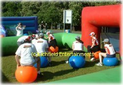 Space Hopper Football game for hire