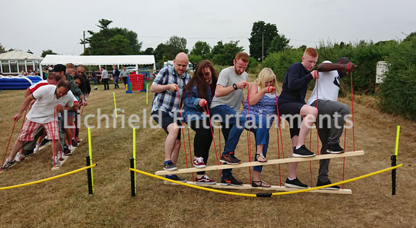 Team Centipede Ski game hire for team building events