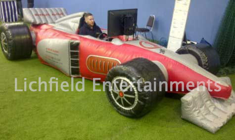 Our full size Inflatable F1 race simulator from Lichfield Entertainments UK
