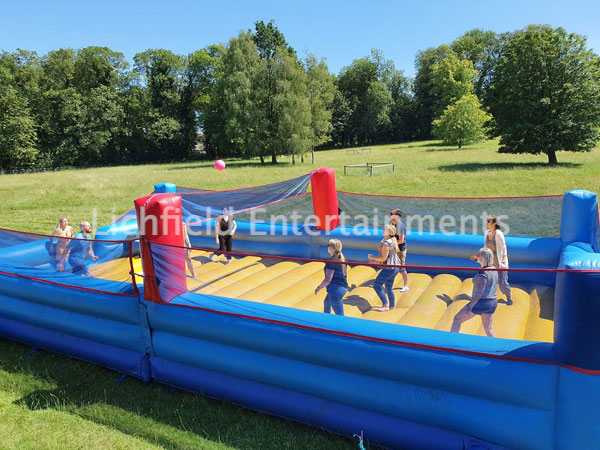 Inflatable Beach Volleyball Court for hire from Lichfield Entertainments UK