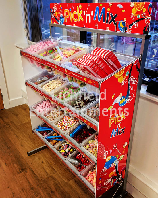 Pick and Mix Stand for hire from Lichfield Entertainments