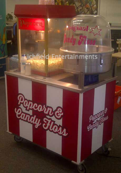 Popcorn and Candyfloss Stall for hire