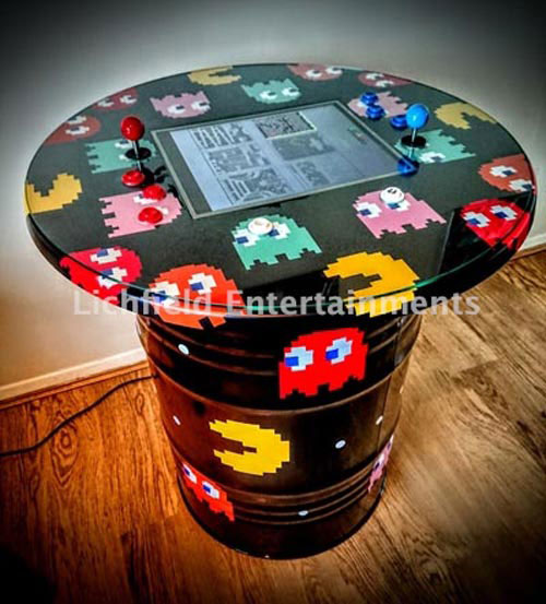 Retro arcade table game hire from Lichfield Entertainments
