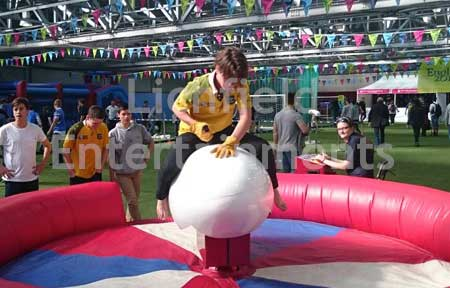 Rodeo Rugby Ball. Rugby theme Rodeo Ride