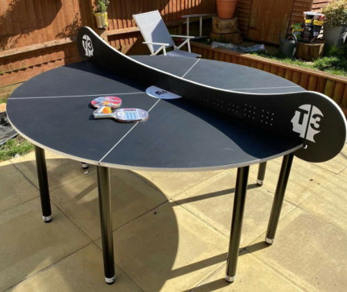2-6 player round Table Tennis table for hire from Lichfield Entertainments UK