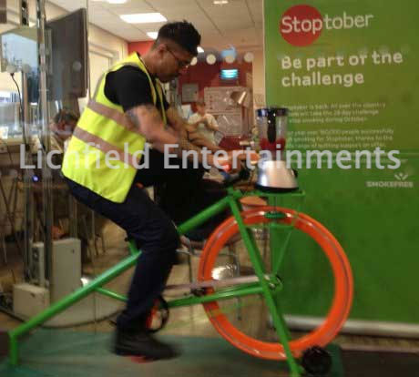 Healthy attraction Smoothie bike for hire