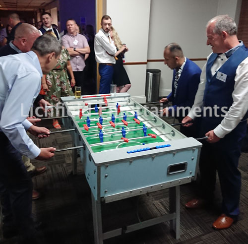 Table Football for hire from Lichfield Entertainments UK