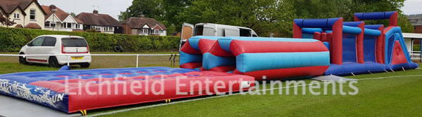 Inflatable Assault Course hire for team building events