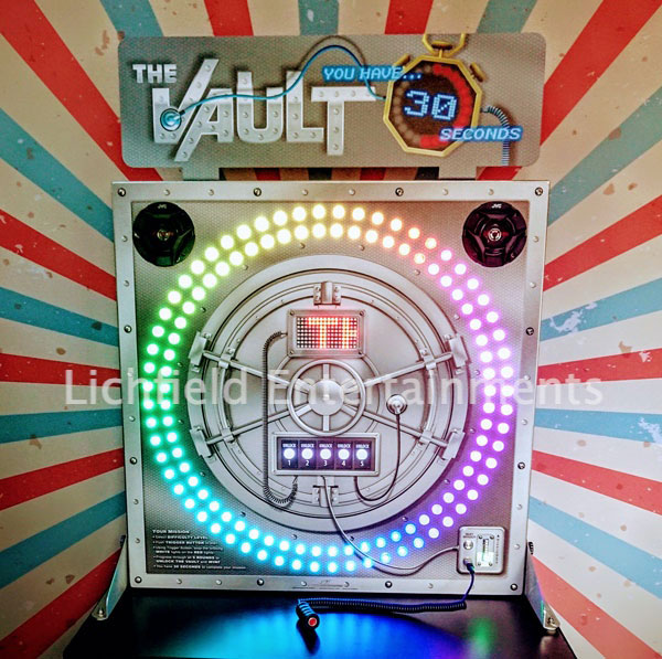 The Vault - a eye to hand coordination and reaction speed game for hire