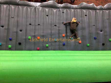 Inflatable Climbing and Traversing Wall hire