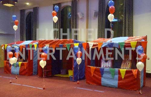 Wedding reception side stall games hire.
